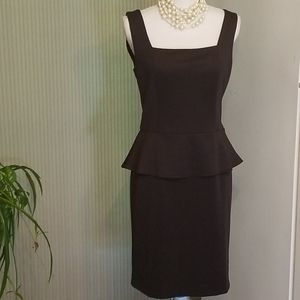 Beige by Eci black sateen cocktail/party dress NWT